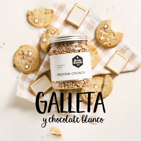 PROTEIN CRUNCH GALLETA Y CHOCOLATE BLANCO